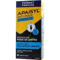 Acheter Apaisyl Anti-poux Xpress 15' Lotion antipoux et lente 200ml+peigne à Bourges